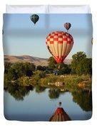 Beautiful Balloon Day Duvet Cover by Carol Groenen