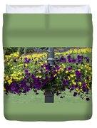 Beautiful Hanging Flowers Duvet Cover by Sabrina L Ryan