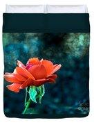 Beautiful Red Rose Duvet Cover by Robert Bales