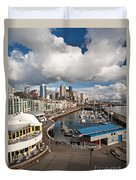Beautiful Seattle Sky Duvet Cover by Mike Reid