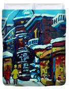 Beautiful Winter Evening Duvet Cover by Carole Spandau