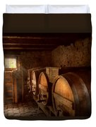 Beer Maker - The Brewmasters Basement Duvet Cover by Mike Savad