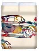 Beetle Car Duvet Cover by Mark Ashkenazi