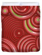 Beetroot Pink Abstract Duvet Cover by Frank Tschakert