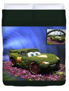 Before And After Sample Art 29 Floral Lightning Mcqueen Duvet Cover by Thomas Woolworth