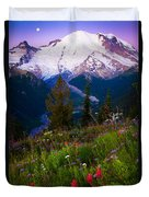 Before Dawn At Mount Rainier Duvet Cover by Inge Johnsson