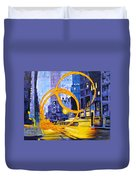 Before These Crowded Streets Duvet Cover by Joshua Morton