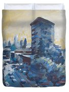 Belding Building View Duvet Cover by Vanessa Hadady BFA MA