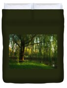 Beneath The Willow Duvet Cover by Lori Deiter