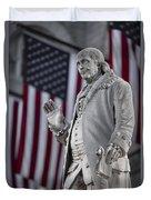 Benjamin Franklin Duvet Cover by Eduard Moldoveanu