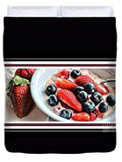 Berries And Yogurt Intense - Food - Kitchen Duvet Cover by Barbara Griffin