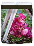 Bespoke Flower Arrangement Duvet Cover by Rona Black