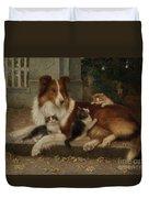 Best Of Friends Duvet Cover by Wilhelm Schwar
