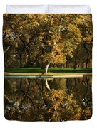Bidwell Park Reflections Duvet Cover by James Eddy