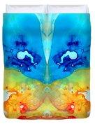 Big Blue Love - Visionary Art By Sharon Cummings Duvet Cover by Sharon Cummings