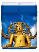 Big Buddha Duvet Cover by Adrian Evans