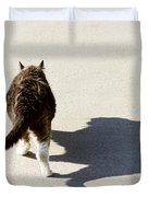 Big Cat Ferocious Shadow Duvet Cover by James BO  Insogna