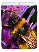 Big Dusty Bumble Duvet Cover by Bill Caldwell -        ABeautifulSky Photography