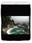 Big Sur's Emerald Oaza Duvet Cover by Eduard Moldoveanu