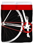 Bike In Black White And Red No 2 Duvet Cover by Ben and Raisa Gertsberg