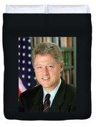 Bill Clinton Duvet Cover by Georgia Fowler