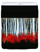 Birch 24 X 48  Duvet Cover by Michael Swanson