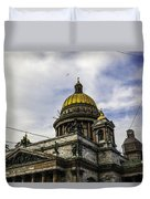 Bird Over St Basil's Cathedral Duvet Cover by Madeline Ellis