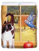 Bird Watching Duvet Cover by Ditz