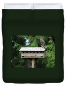 Birdhouse Takeover  Duvet Cover by Kym Backland