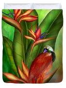 Birds Of Paradise Duvet Cover by Carol Cavalaris