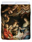 Birth of Christ Adoration of the Shepherds Duvet Cover by Peter Paul Rubens