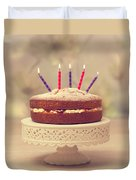 Birthday Cake Duvet Cover by Amanda And Christopher Elwell