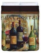 Bistro De Paris Duvet Cover by Marilyn Dunlap