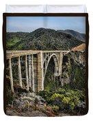 Bixby Creek Bridge Duvet Cover by Heather Applegate