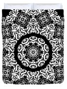 Black And White Medallion 10 Duvet Cover by Angelina Vick