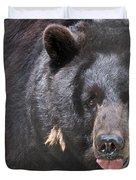 Black Bear Duvet Cover by Meg Rousher