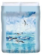 Black-headed Seagulls At Seven Seas Beach Duvet Cover by Zaira Dzhaubaeva