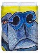 Black Lab Nose Duvet Cover by Roger Wedegis