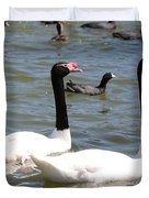 Black-necked Swans Duvet Cover by Carol Groenen