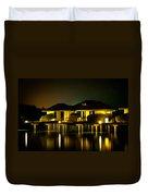 Black Starry Night In Tropics 3 Duvet Cover by Jenny Rainbow