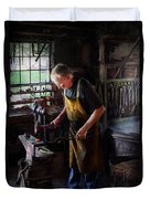 Blacksmith - Starting With A Bang  Duvet Cover by Mike Savad