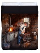 Blacksmith - The Smith Duvet Cover by Mike Savad
