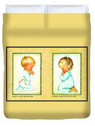Bless Us All And A Childs Prayer Duvet Cover by Charlotte Byj