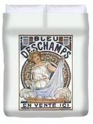 Bleu Deschamps Duvet Cover by Georgia Fowler