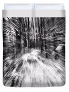 Blizzard In The Forest Duvet Cover by Dan Sproul
