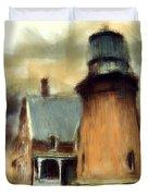 Block Island Light Duvet Cover by Lourry Legarde