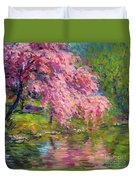 Blossoming Trees Landscape  Duvet Cover by Svetlana Novikova