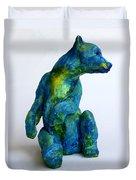 Blue Bear Duvet Cover by Derrick Higgins