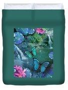 Blue Butterfly Dream Duvet Cover by Alixandra Mullins