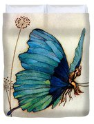 Blue Butterfly II Duvet Cover by Warwick Goble